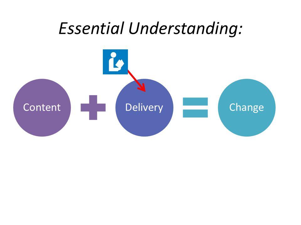 Essential Understanding: ContentDeliveryChange