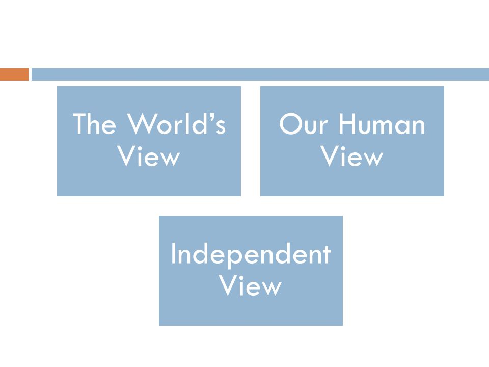 The World's View Our Human View Independent View