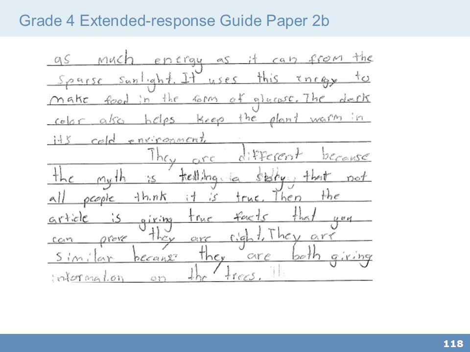 Grade 4 Extended-response Guide Paper 2b 118
