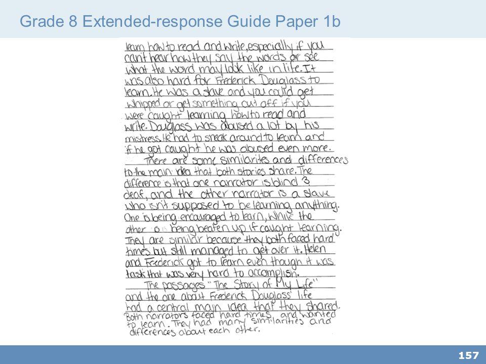 Grade 8 Extended-response Guide Paper 1b 157