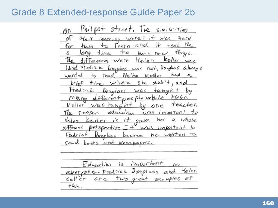 Grade 8 Extended-response Guide Paper 2b 160