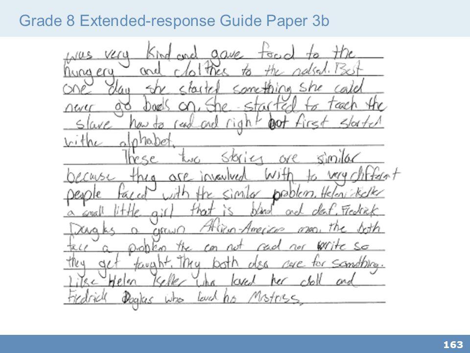 Grade 8 Extended-response Guide Paper 3b 163