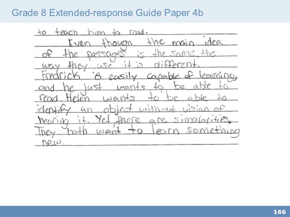 Grade 8 Extended-response Guide Paper 4b 166