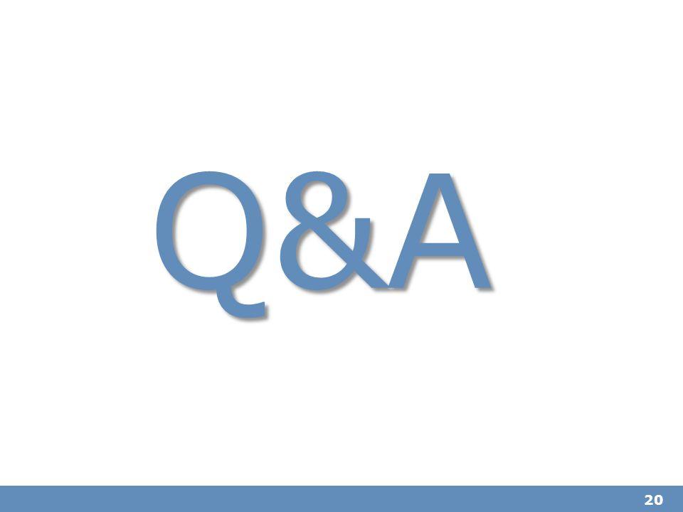 20 Q&A