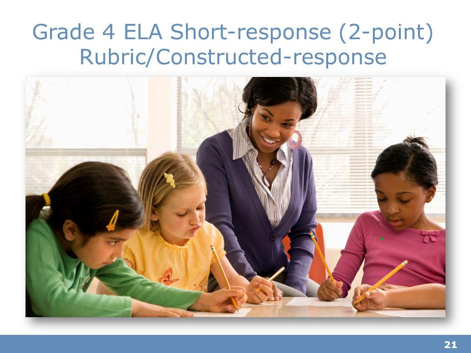 21 Grade 4 ELA Short-response (2-point) Rubric/Constructed-response