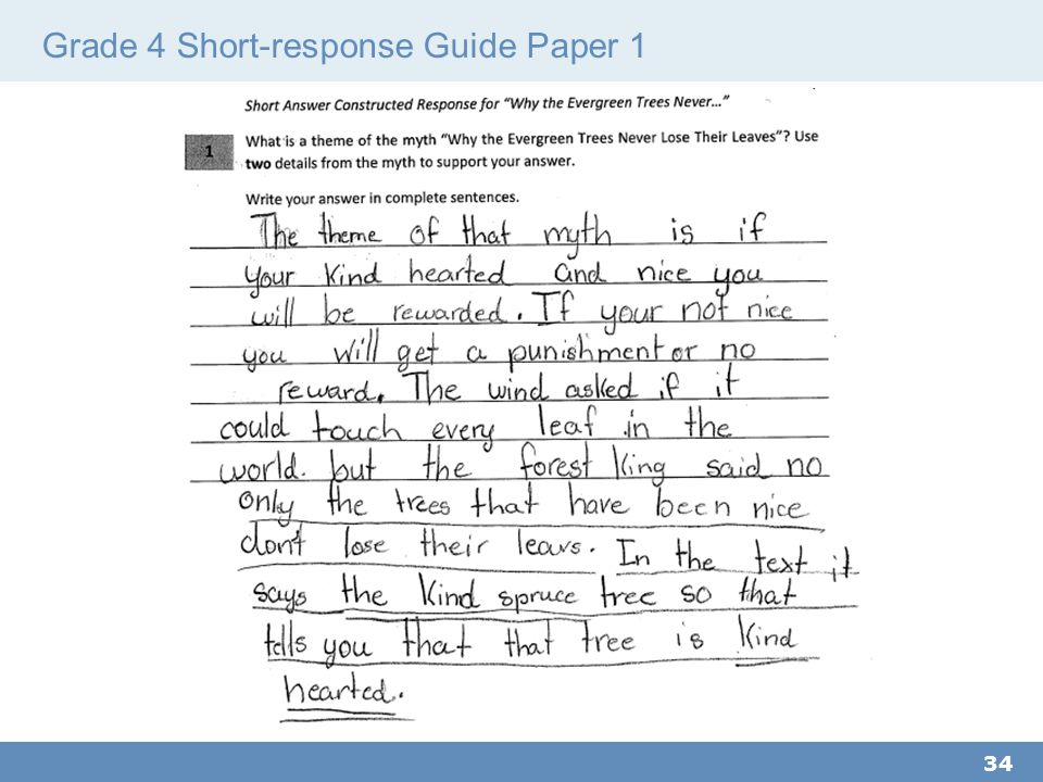 Grade 4 Short-response Guide Paper 1 34