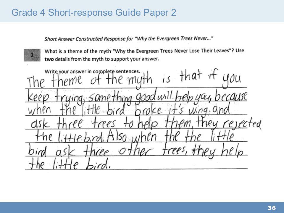 Grade 4 Short-response Guide Paper 2 36