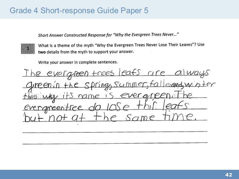 Grade 4 Short-response Guide Paper 5 42