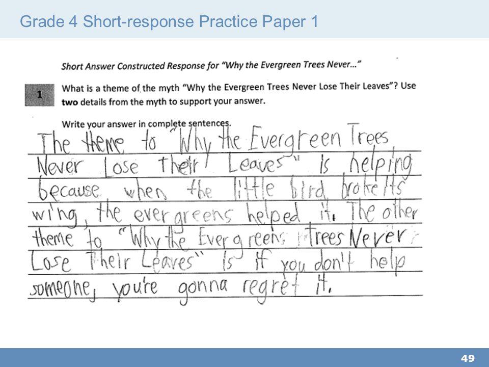 Grade 4 Short-response Practice Paper 1 49