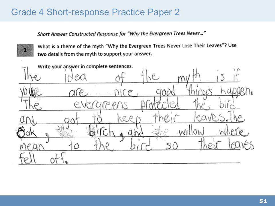 Grade 4 Short-response Practice Paper 2 51