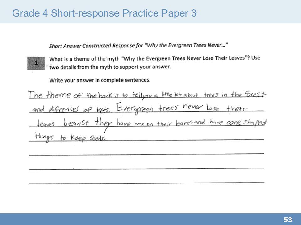 Grade 4 Short-response Practice Paper 3 53