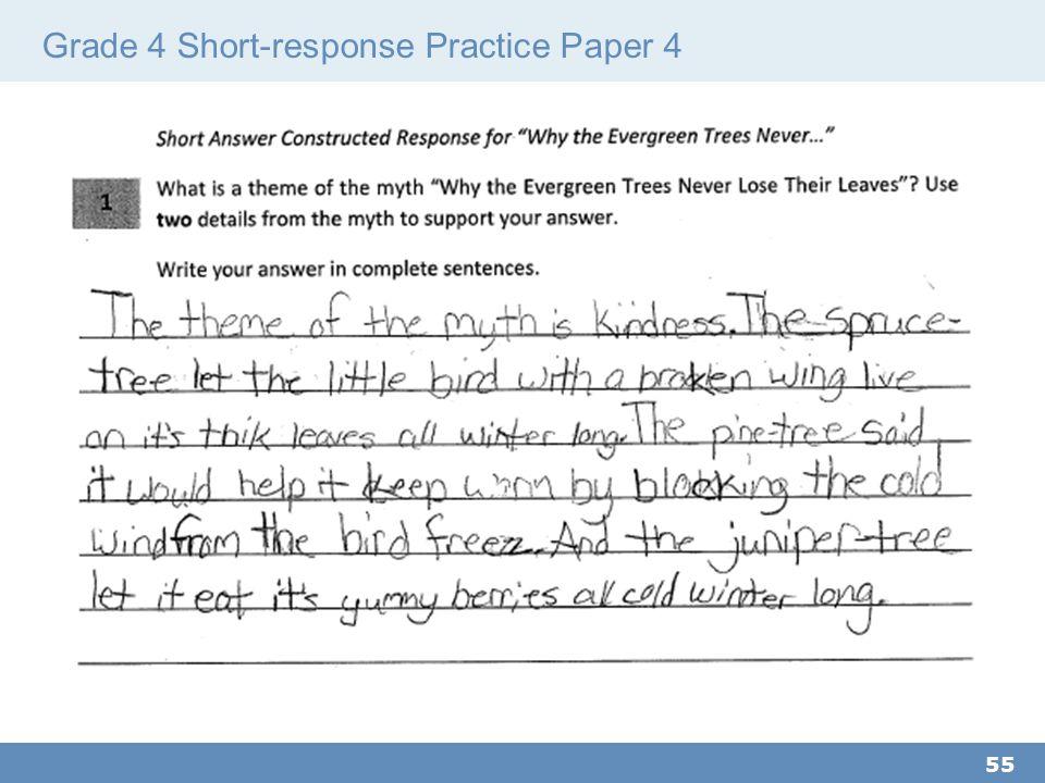 Grade 4 Short-response Practice Paper 4 55
