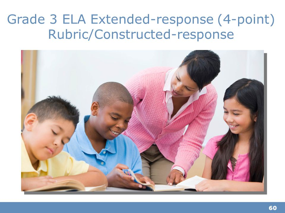 60 Grade 3 ELA Extended-response (4-point) Rubric/Constructed-response