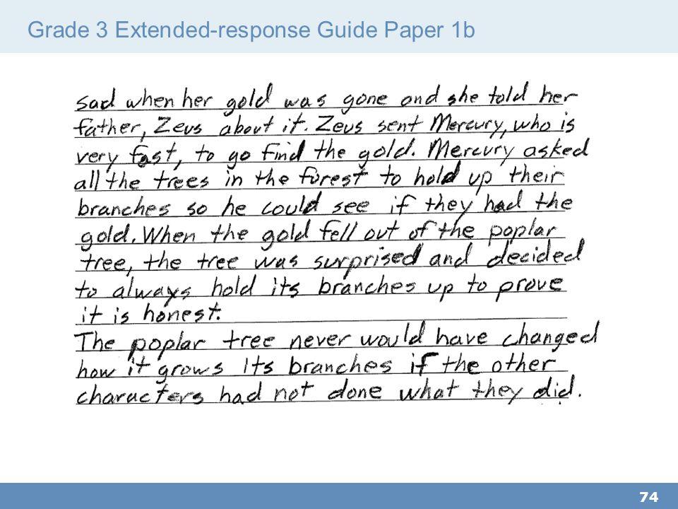 Grade 3 Extended-response Guide Paper 1b 74