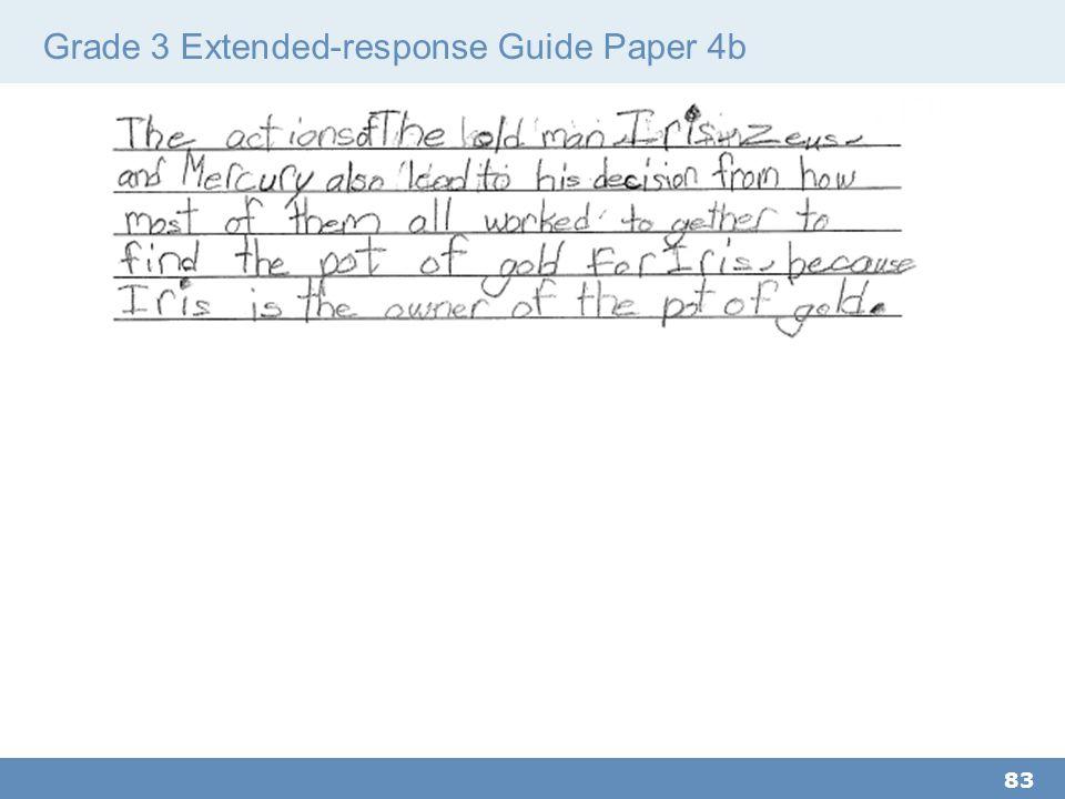 Grade 3 Extended-response Guide Paper 4b 83