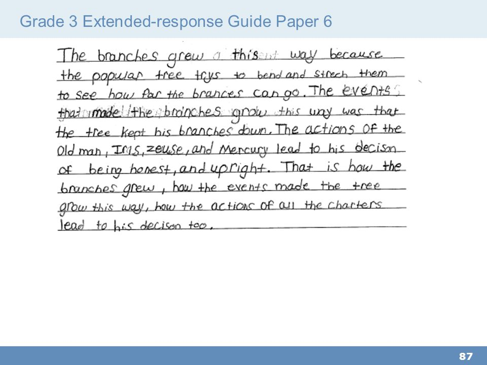 Grade 3 Extended-response Guide Paper 6 87