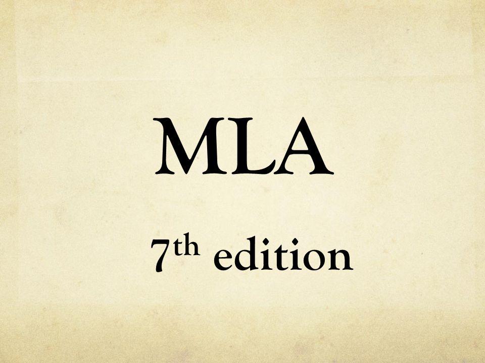 MLA 7 th edition