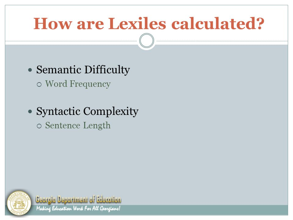 How are Lexiles calculated.