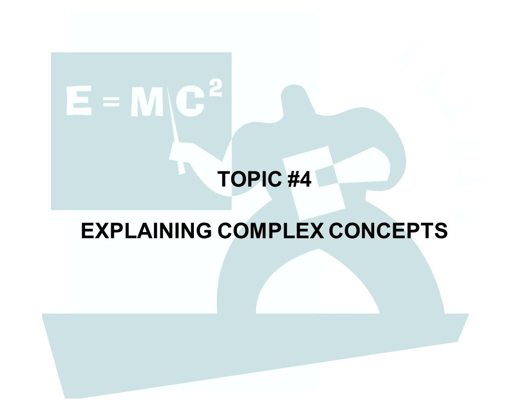 TOPIC #4 EXPLAINING COMPLEX CONCEPTS