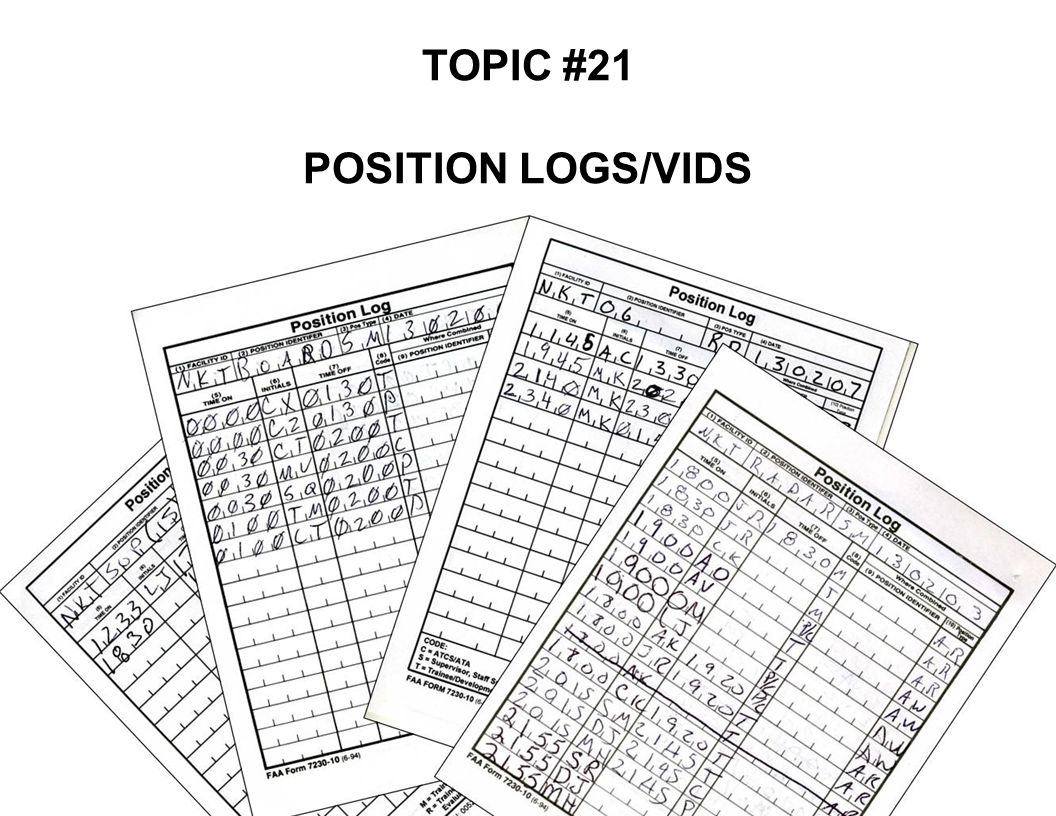 TOPIC #21 POSITION LOGS/VIDS