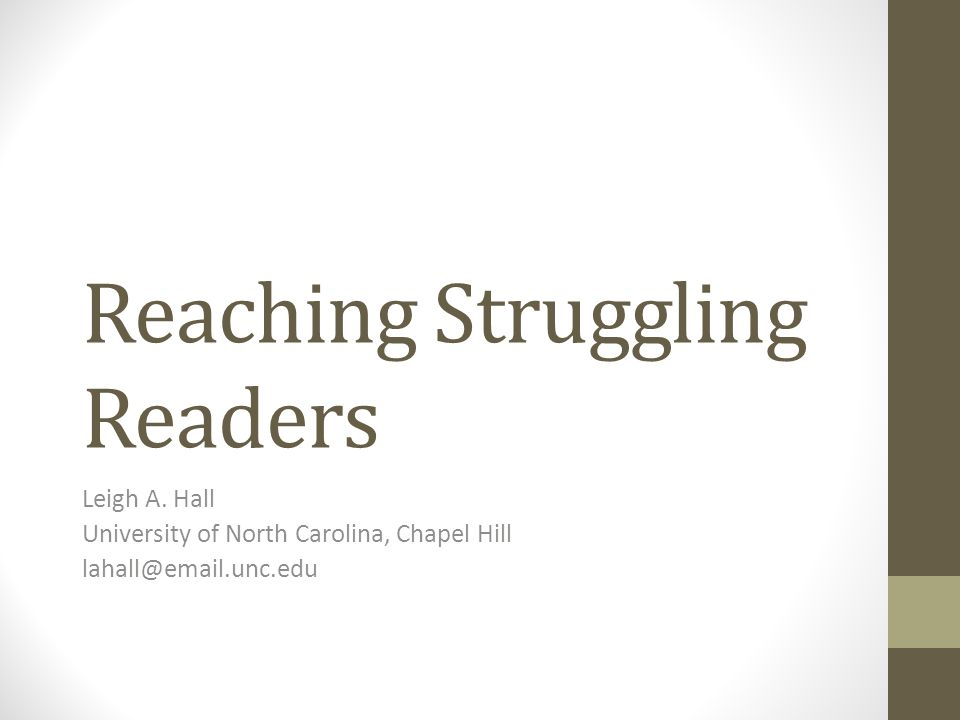 Reaching Struggling Readers Leigh A.