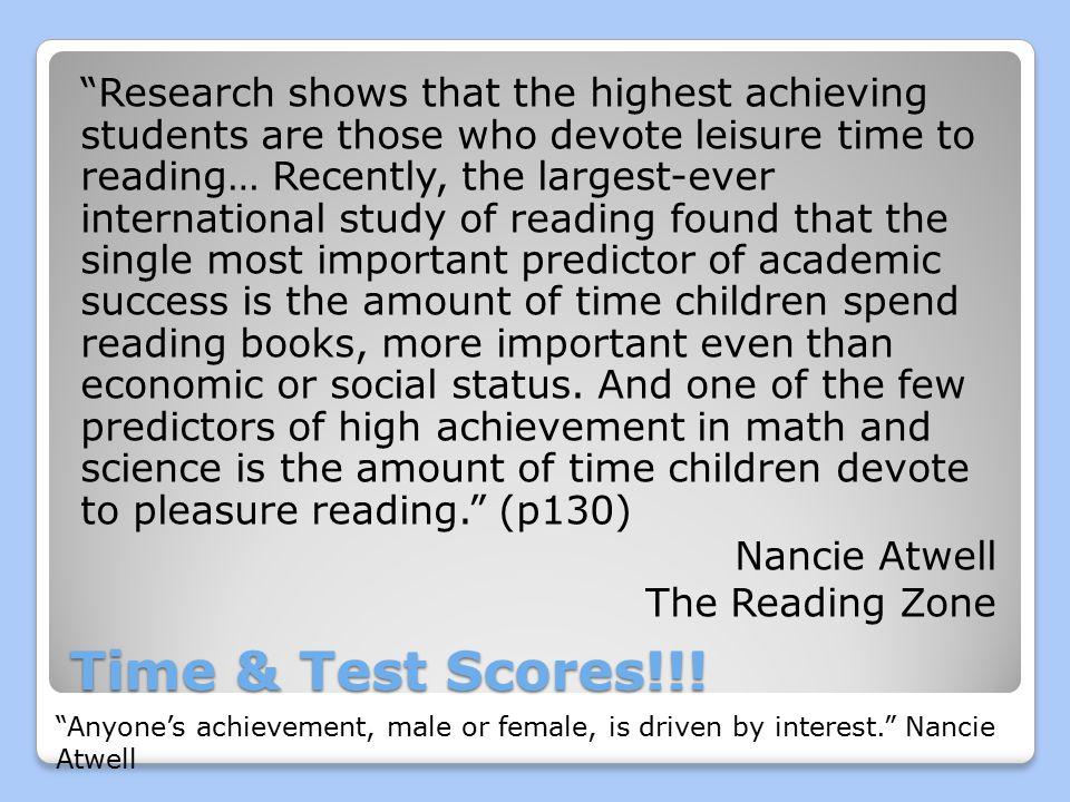 Time & Test Scores!!.