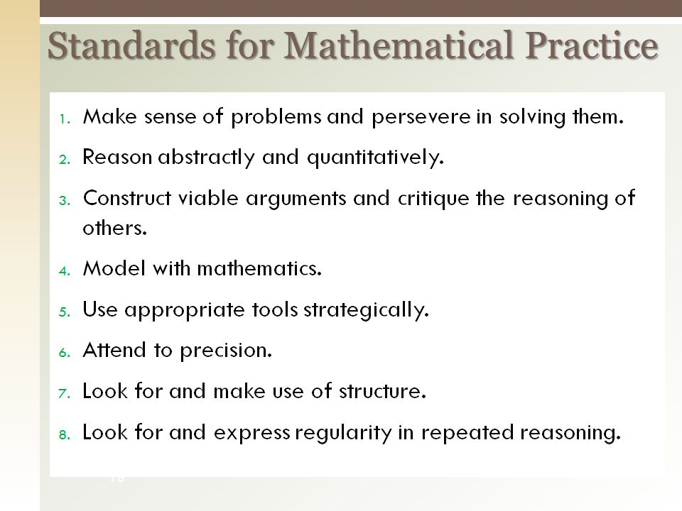 Standards for Mathematical Practice 79