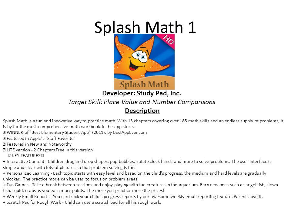 Splash Math 1 Developer: Study Pad, Inc.