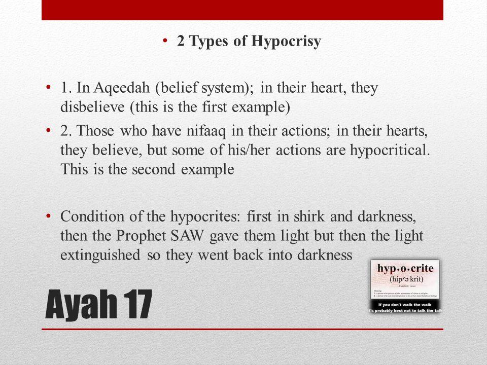 Ayah 17 2 Types of Hypocrisy 1.