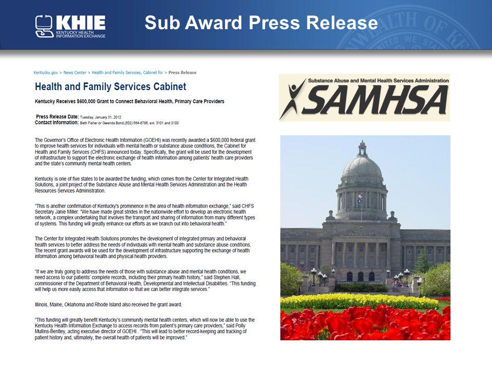 Sub Award Press Release
