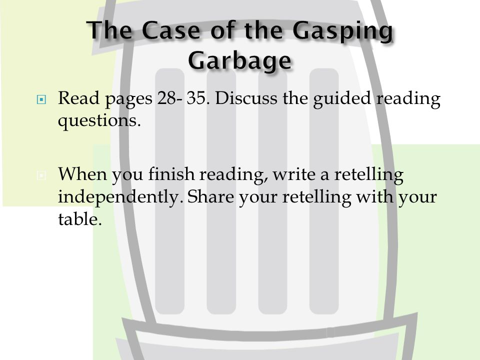  Read pages 28- 35. Discuss the guided reading questions.