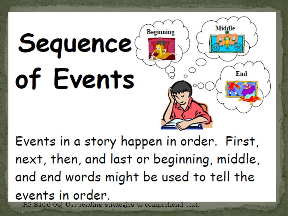 ( R5-S1C6-06) Use reading strategies to comprehend text.