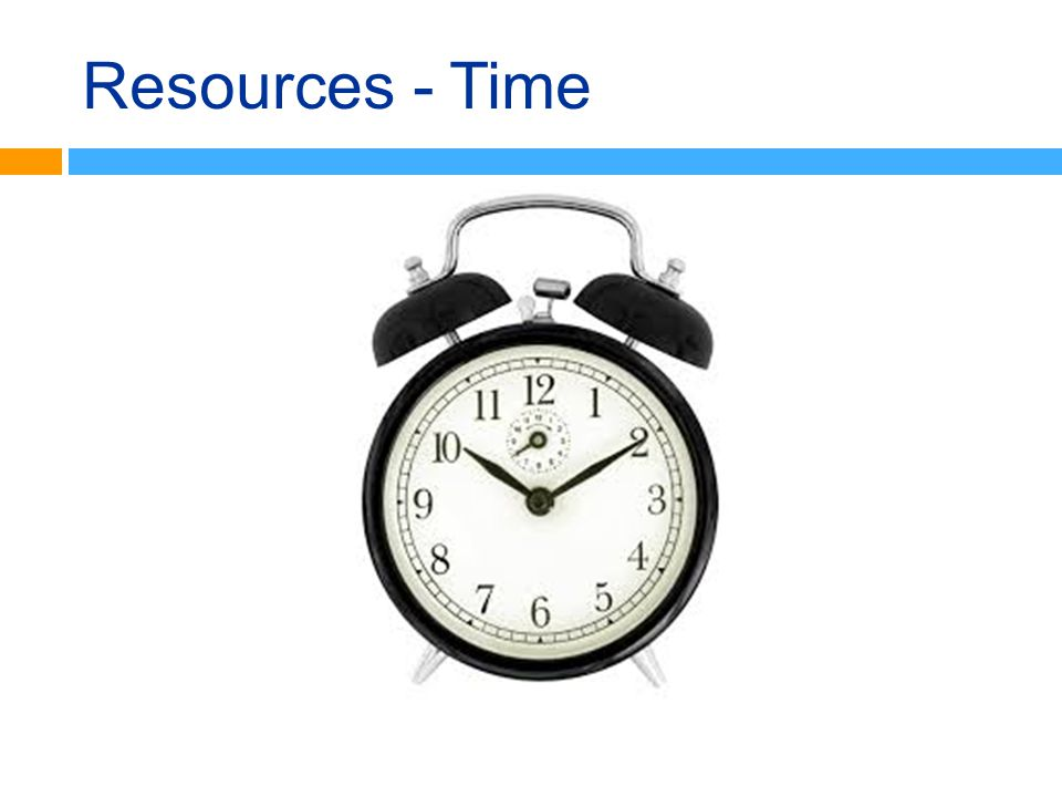Resources - Time