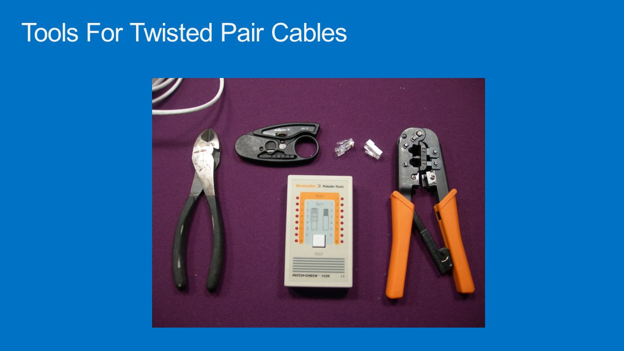 Tools For Twisted Pair Cables