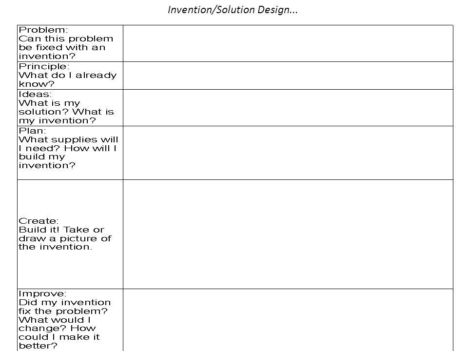 Invention/Solution Design...