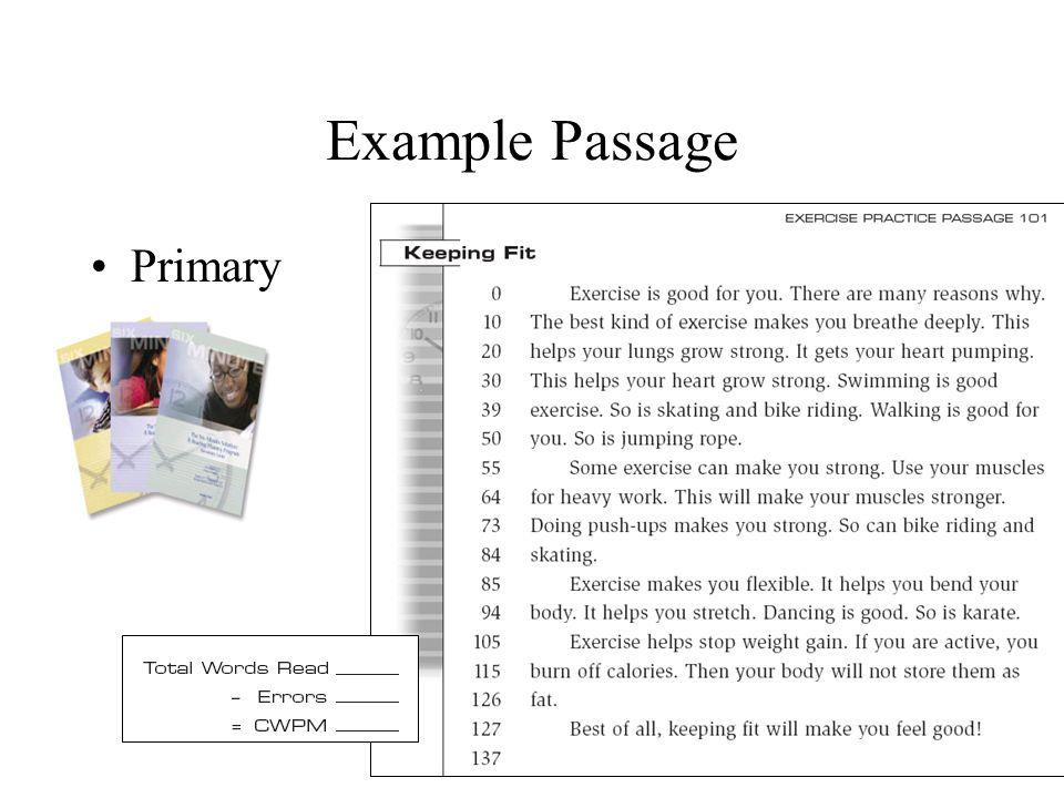 Example Passage Primary