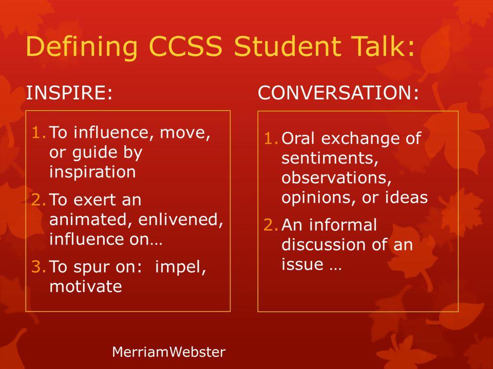 INSPIRE:CONVERSATION: