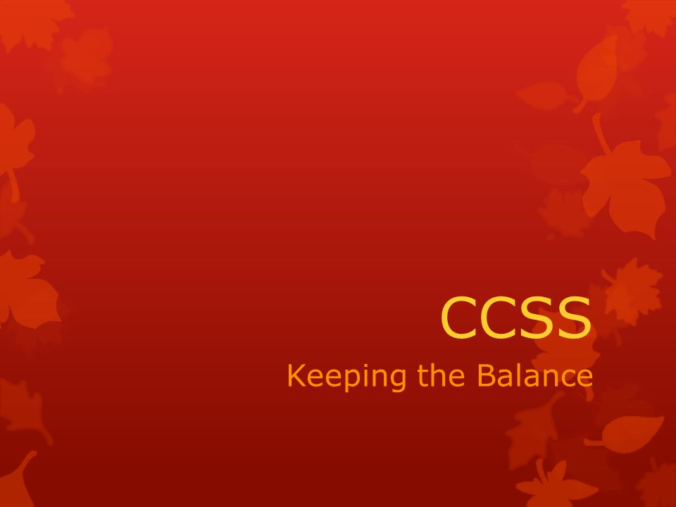 CCSS Keeping the Balance
