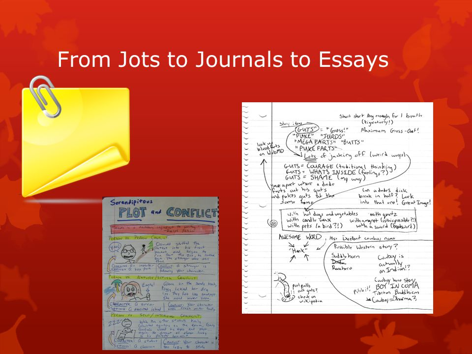 From Jots to Journals to Essays