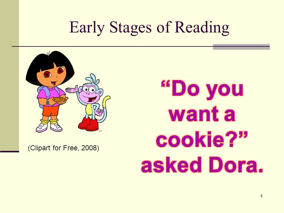 Early Stages of Reading 6 (Clipart for Free, 2008)