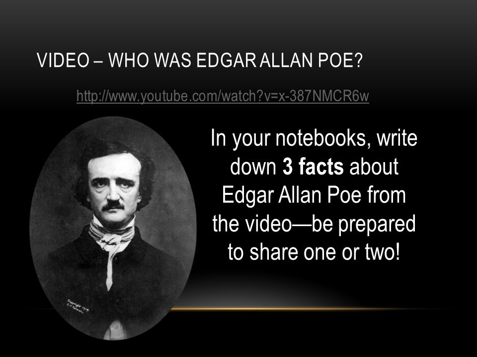 VIDEO – WHO WAS EDGAR ALLAN POE.