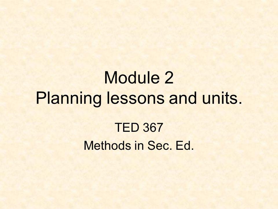 Review: MODULE 2 Standards Aligned System (SAS).Goals vs.