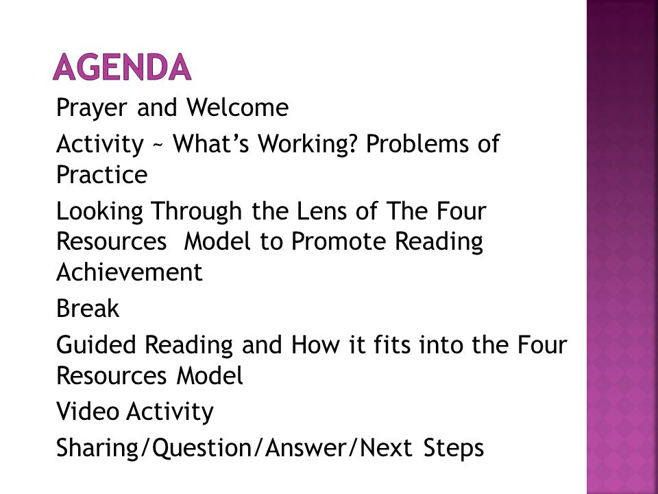  We are here to achieve a consistent/ common understanding of the components and practices of a Comprehensive Literacy Program.