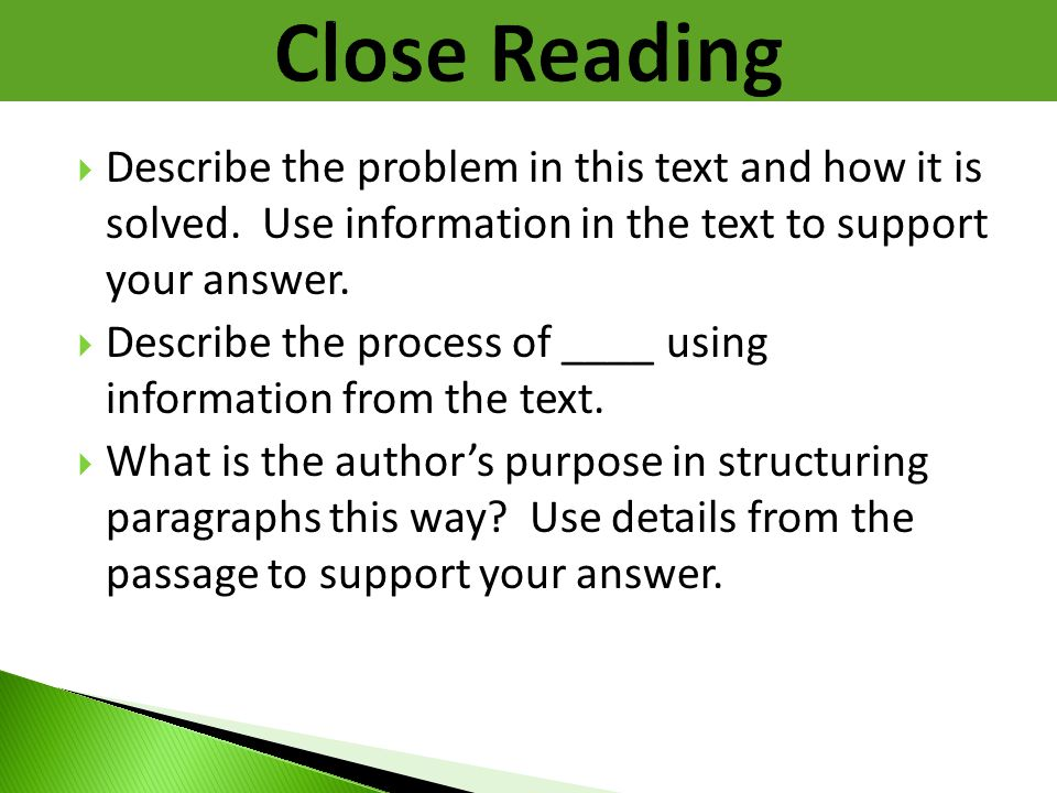  Describe the problem in this text and how it is solved. Use information in the text to support your answer.  Describe the process of ____ using inf