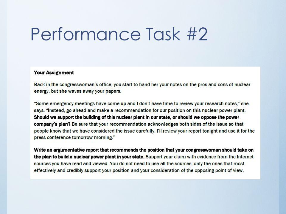 Performance Task #2