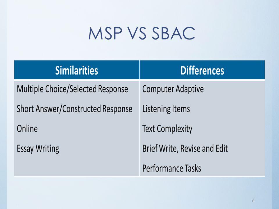 MSP VS SBAC 6