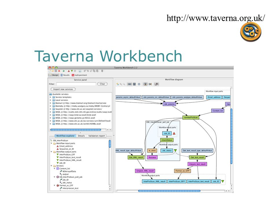 Taverna Workbench http://www.taverna.org.uk/
