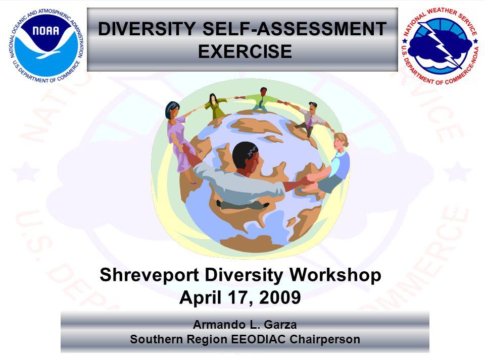 DIVERSITY SELF-ASSESSMENT EXERCISE Shreveport Diversity Workshop April 17, 2009 Armando L.