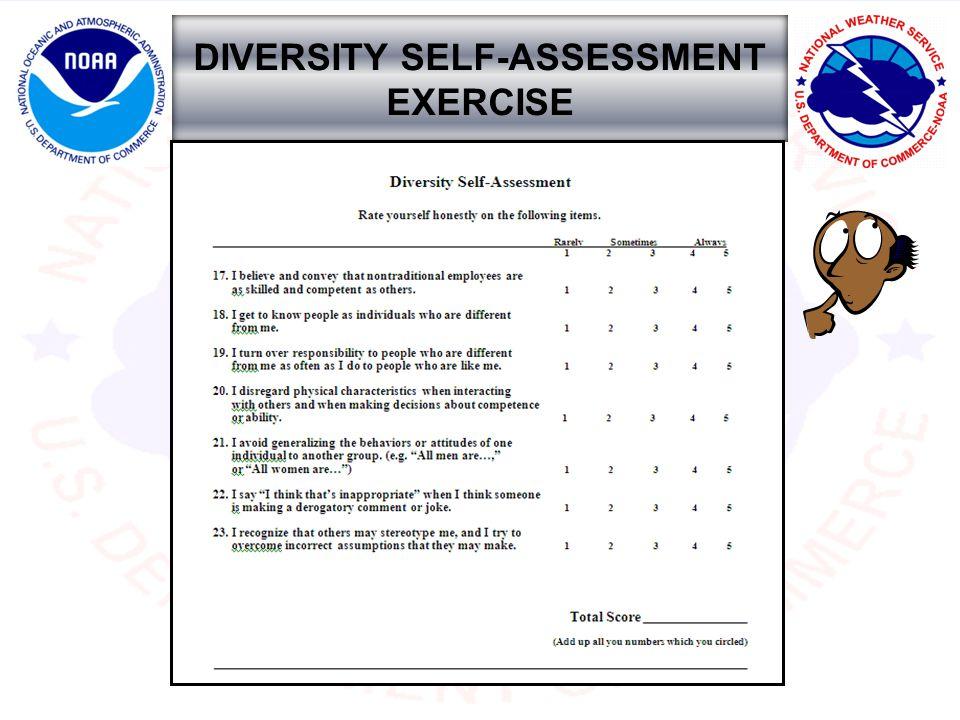 DIVERSITY SELF-ASSESSMENT EXERCISE