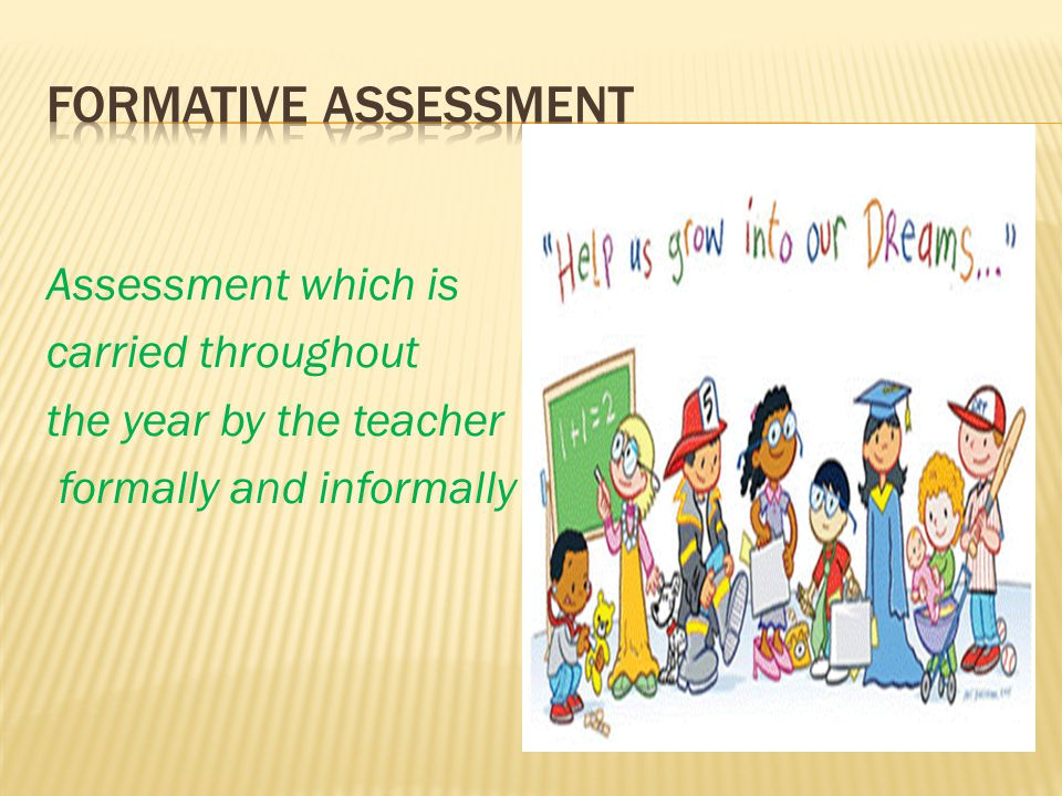 Assessment which is carried throughout the year by the teacher formally and informally